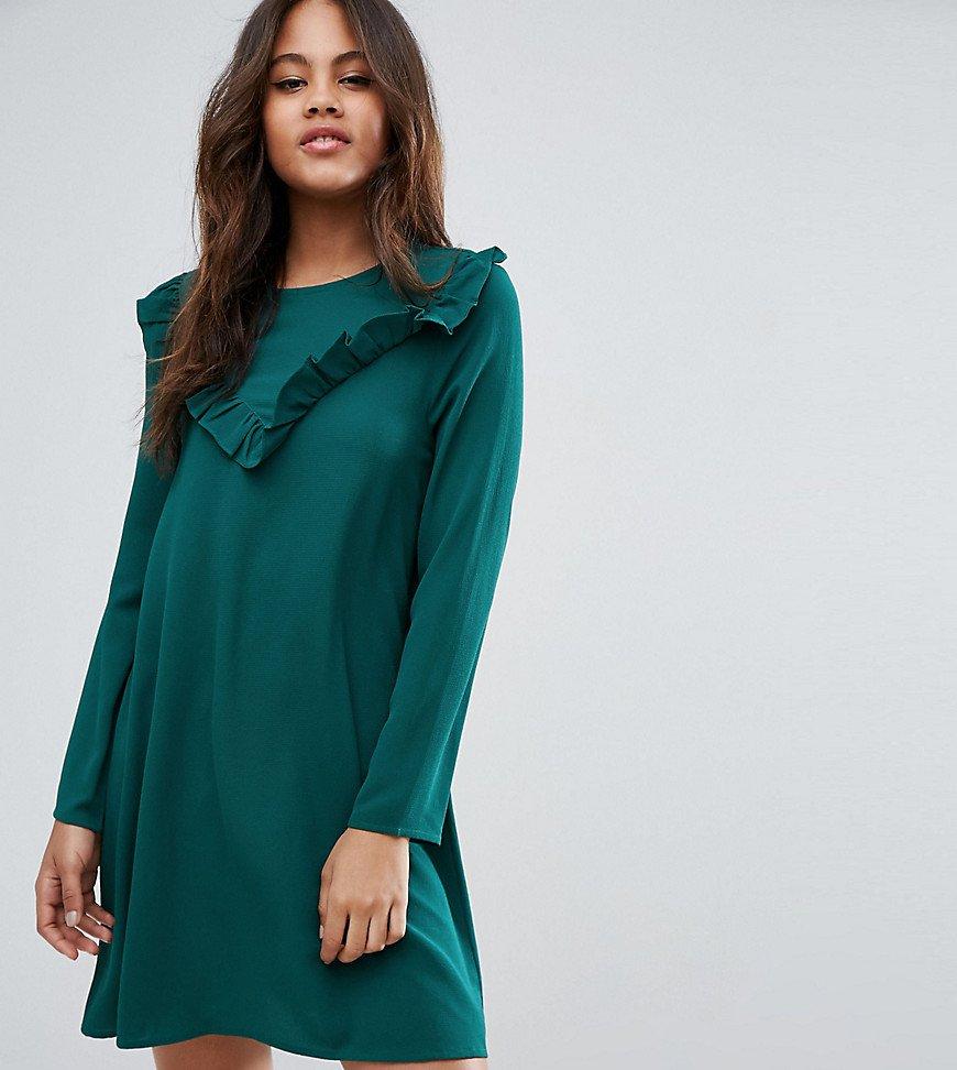 платье трапеция цвет зеленый