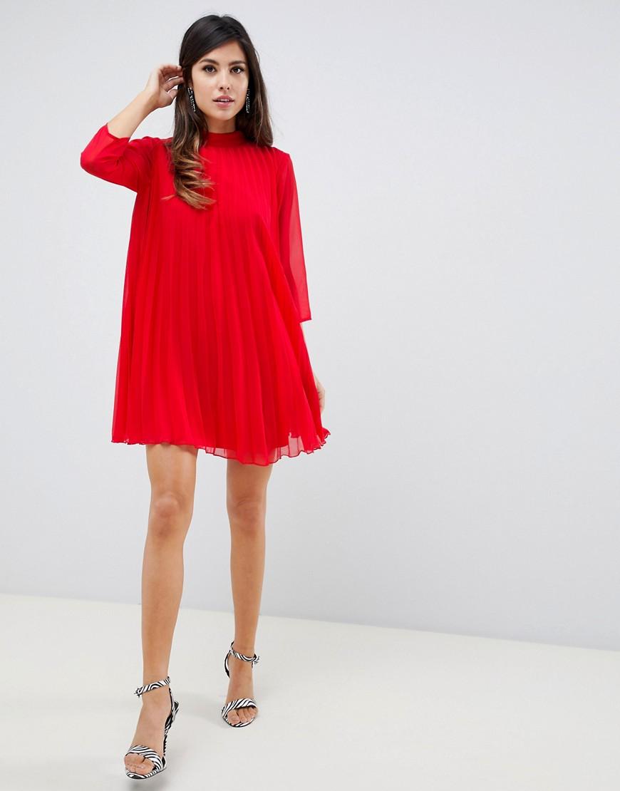 платье трапеция цвет красный