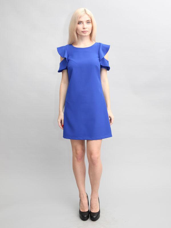 платье трапеция цвет синий