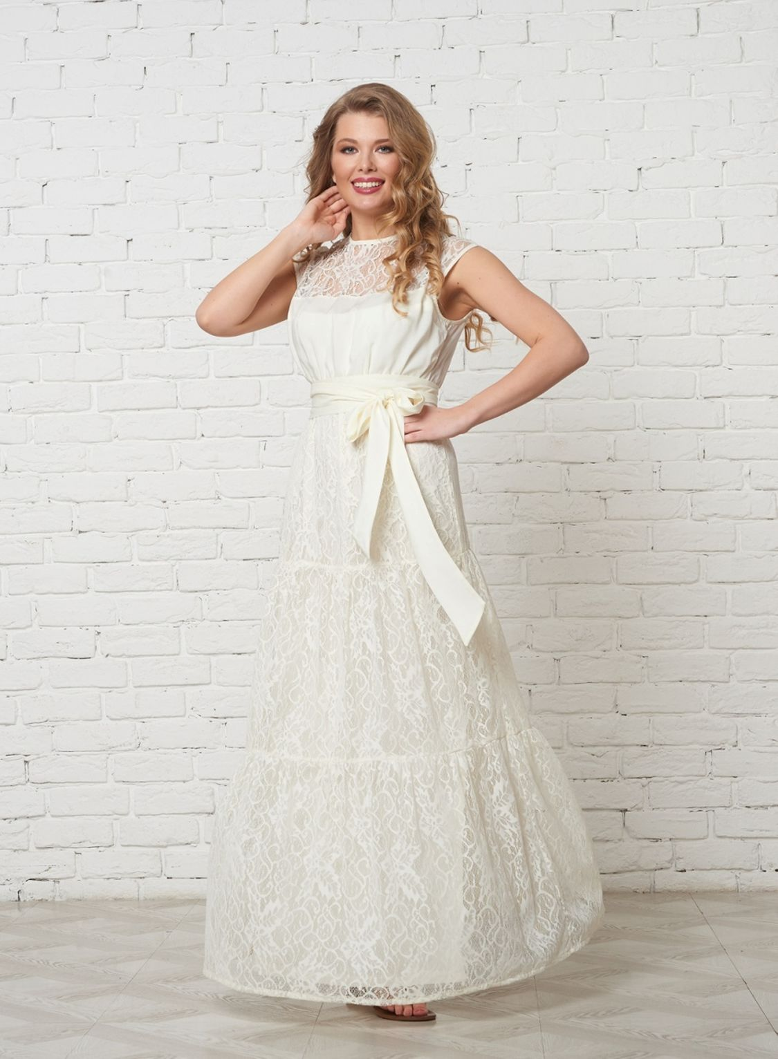 платье свадебное с кокеткой