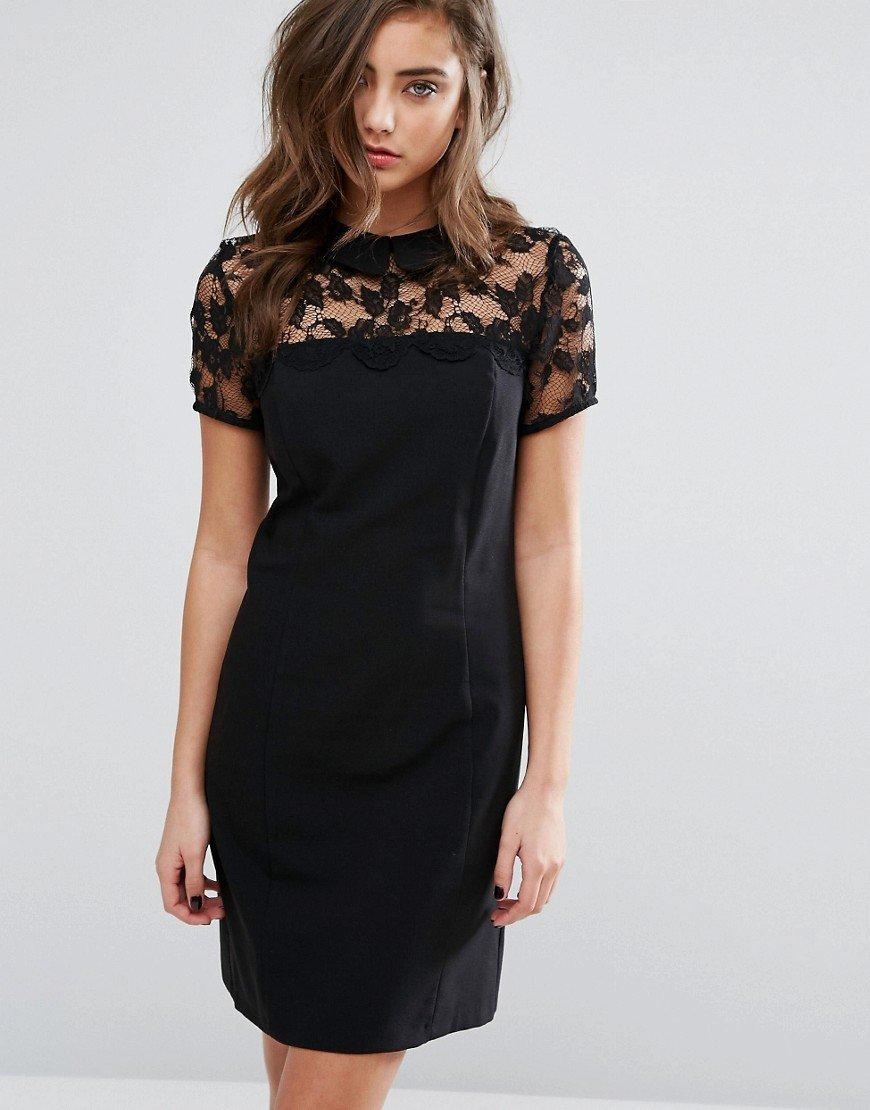платье на кокетке черное