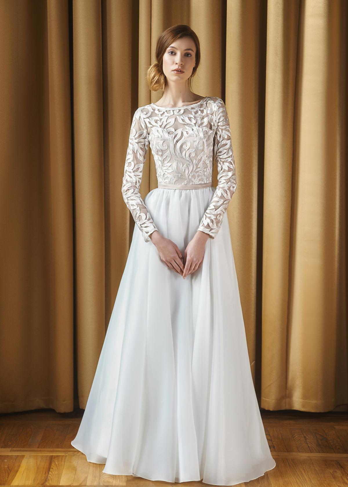 длинное платье свадебное фото