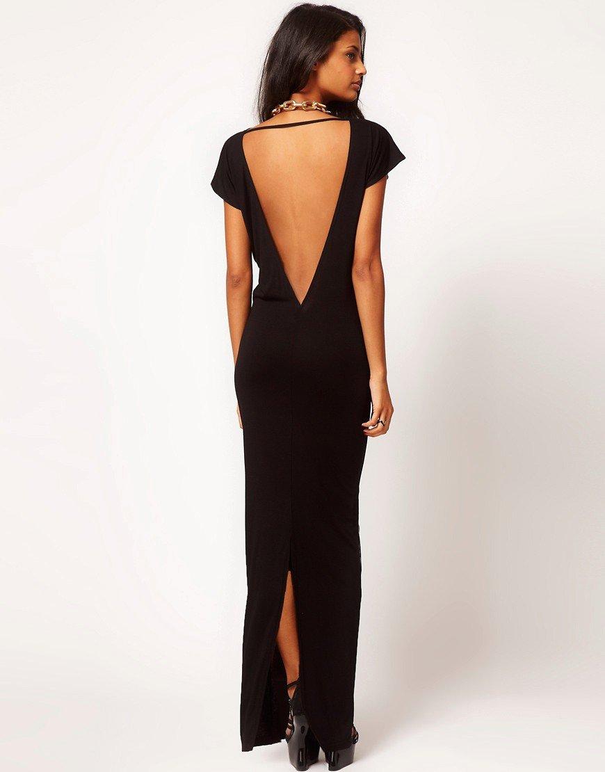 длинное платье с открытой спиной фото