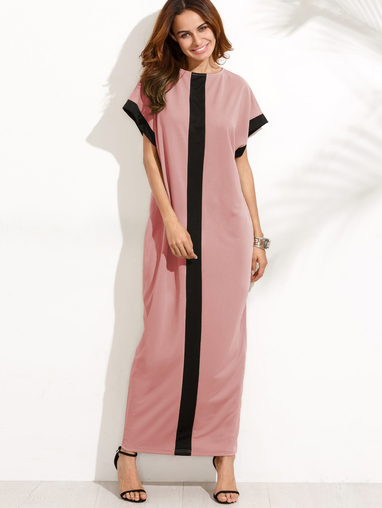 длинное платье прямого кроя фото