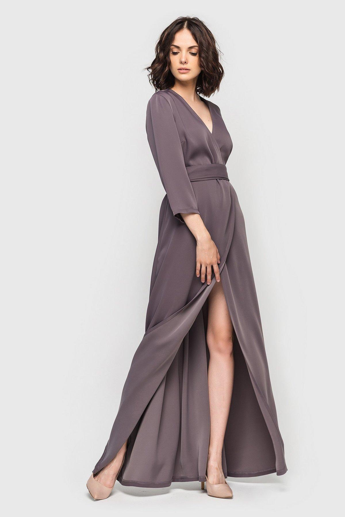 длинное платье с запахом фото