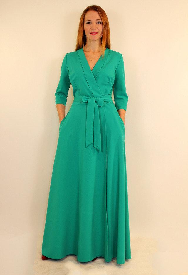 длинное платье халат фото