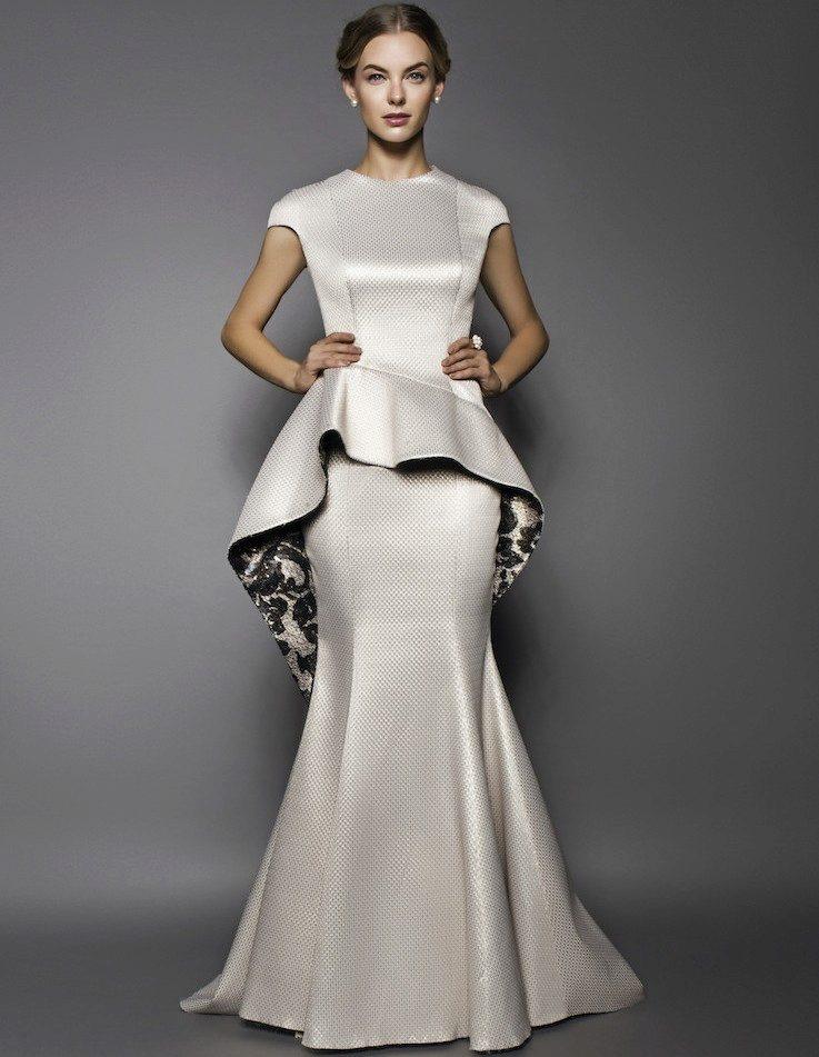длинное платье с баской фото