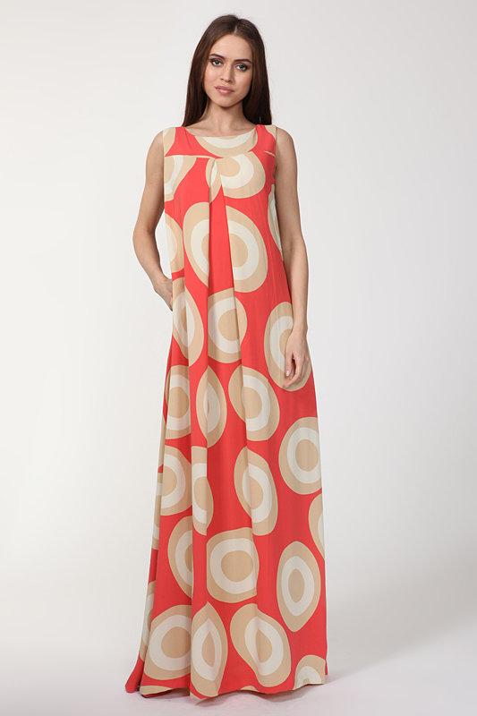 длинное платье А-силуэта фото
