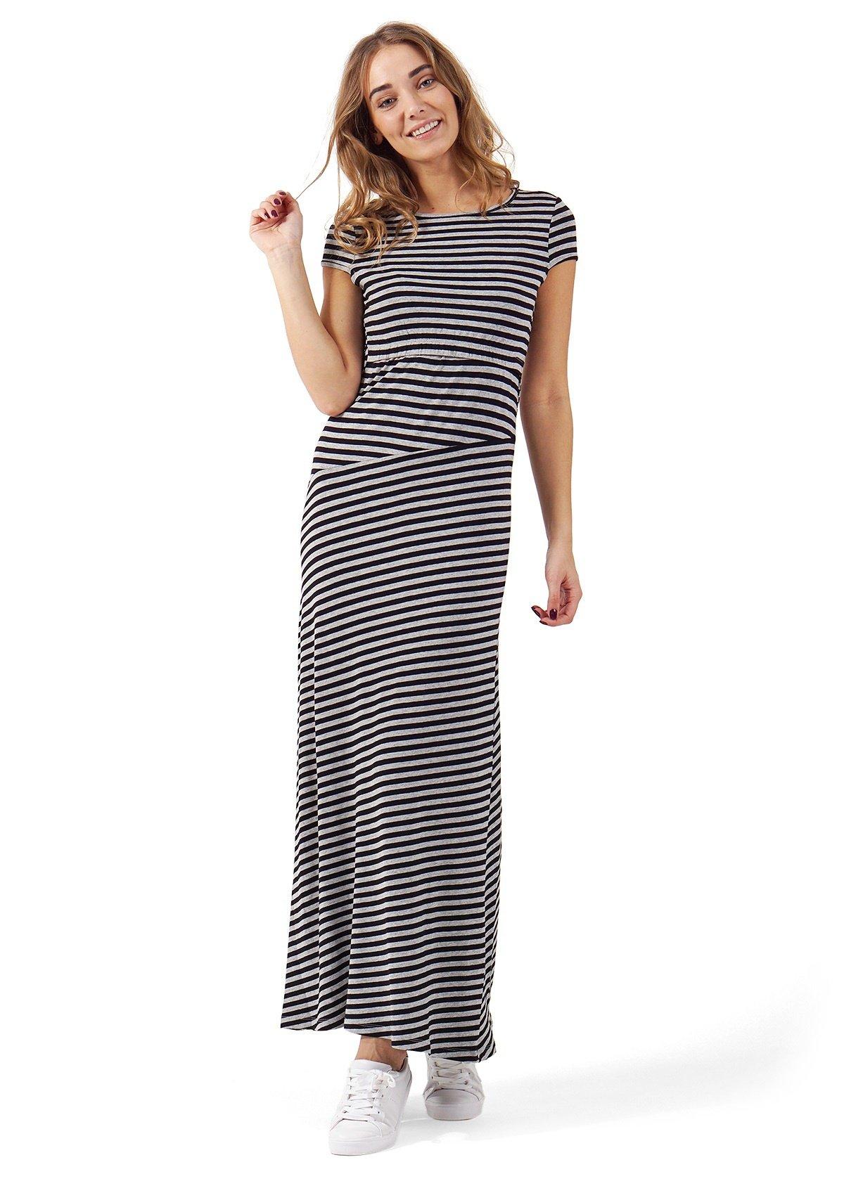 длинное платье в полоску фото