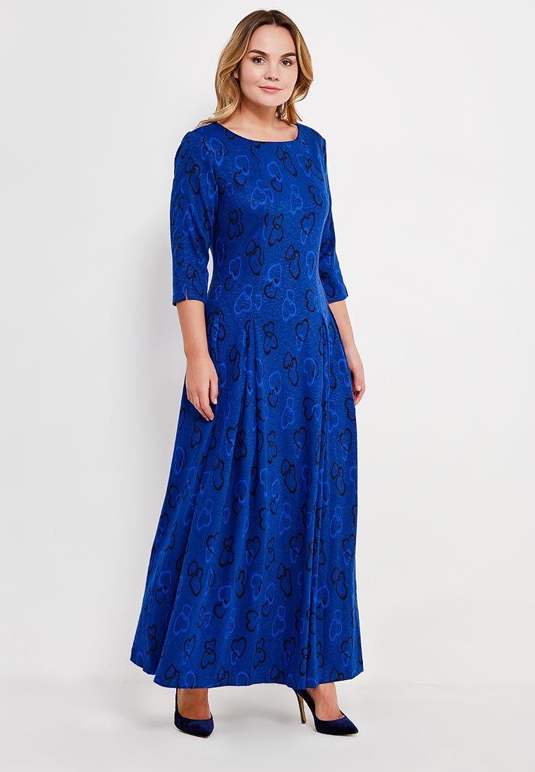 длинное платье синее фото