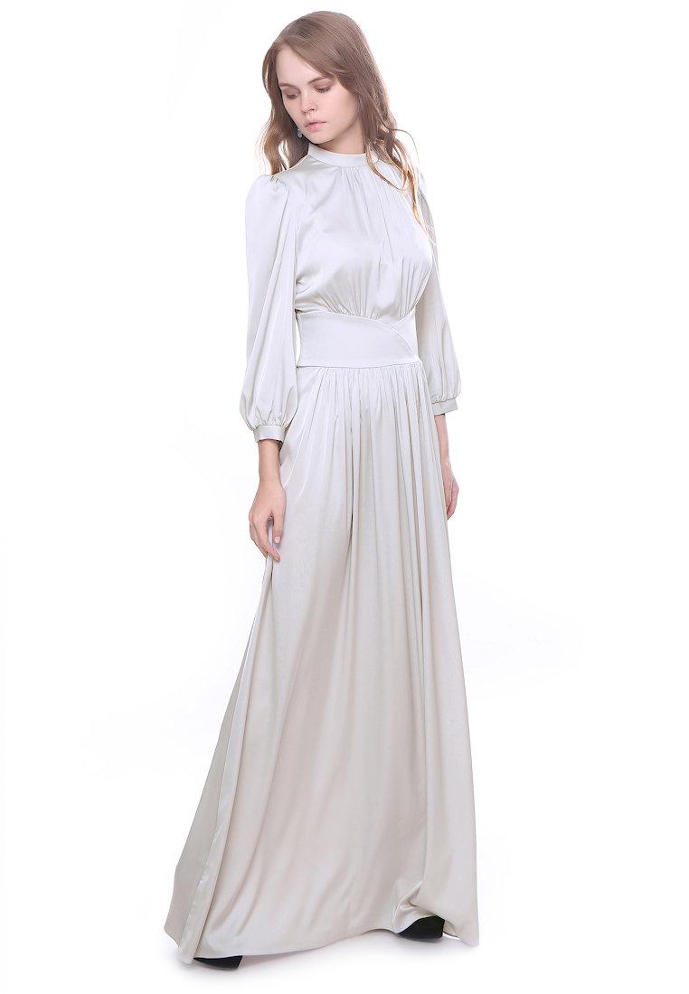 длинное платье белое фото