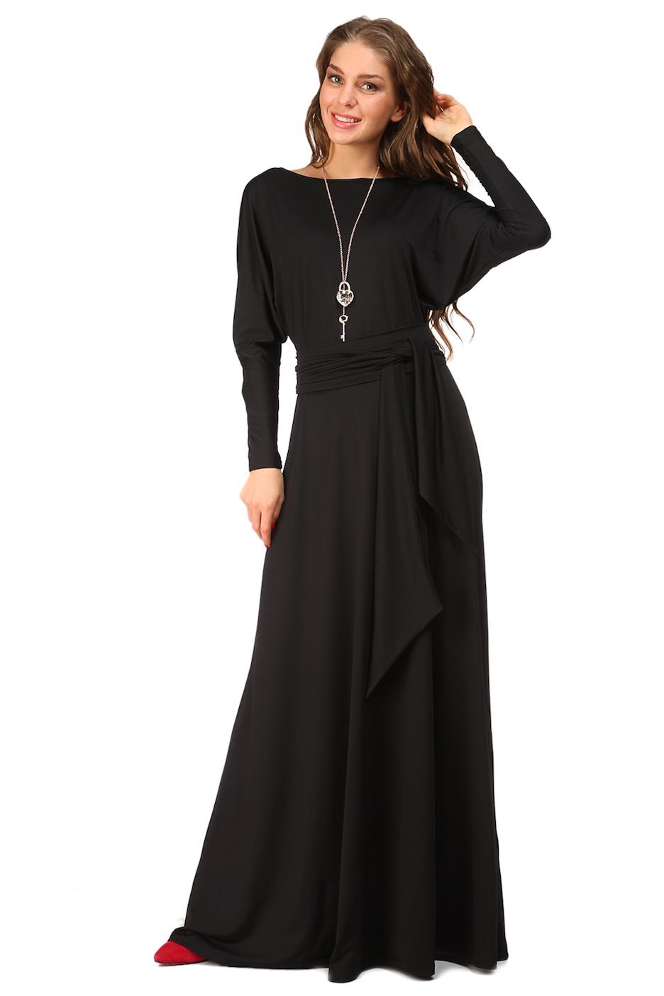 длинное платье черное фото