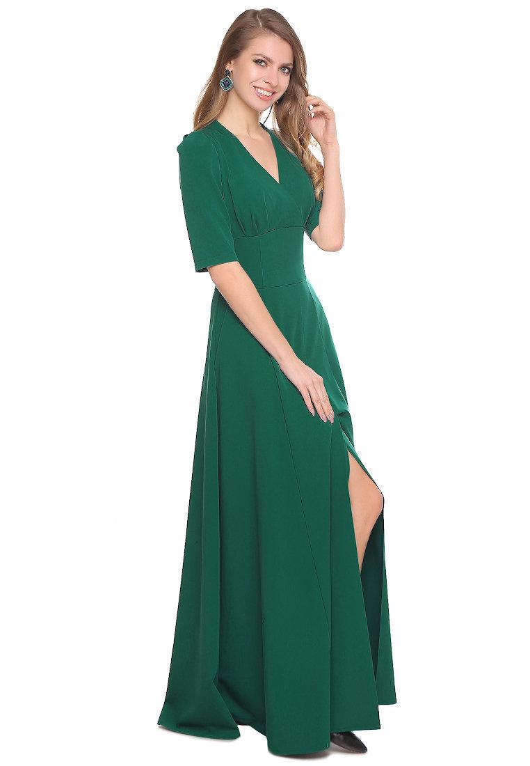 длинное платье зеленое фото