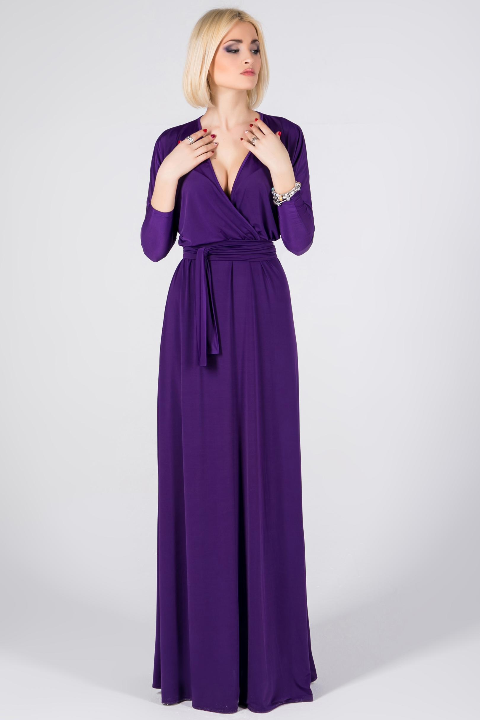 длинное платье фиолетовое фото