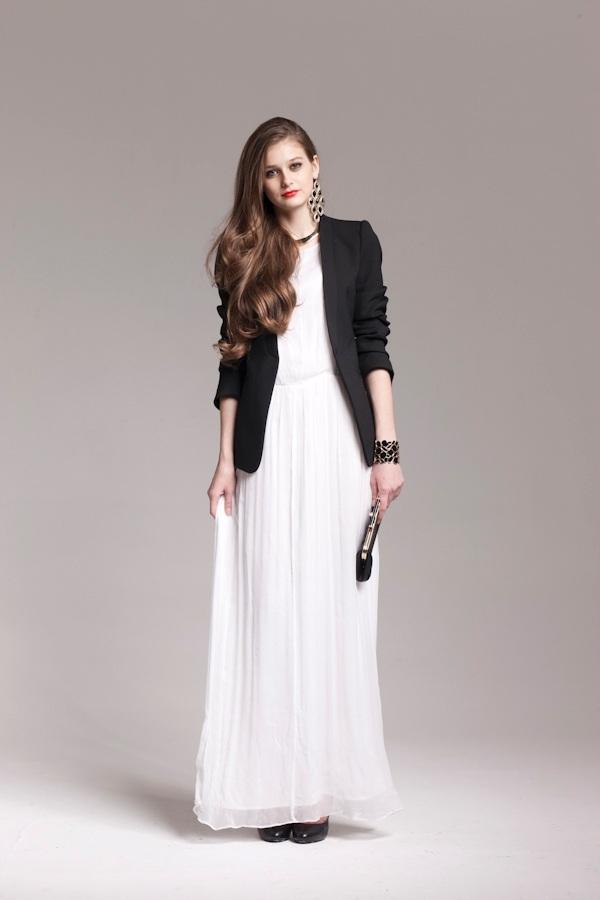 длинное платье с пиджаком фото