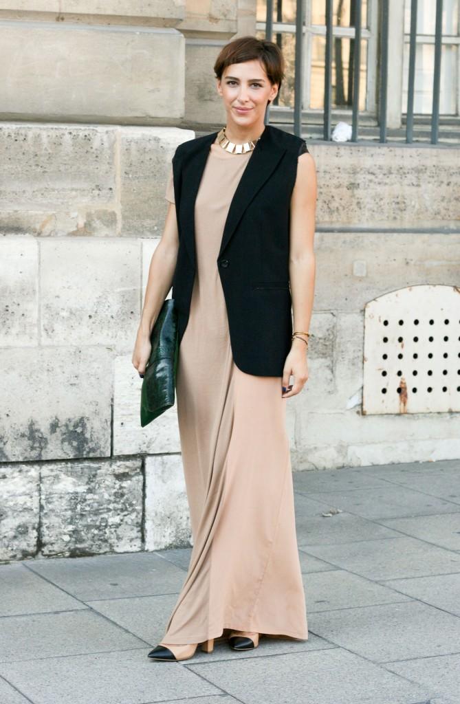 длинное платье с жилетом фото