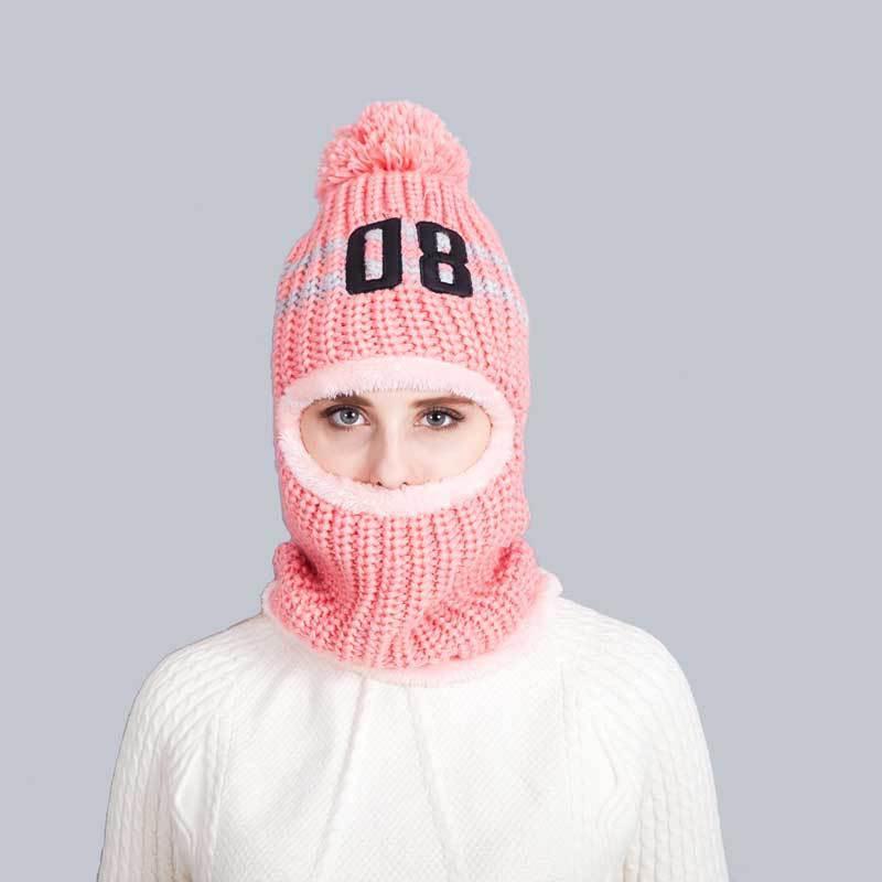 вязаная шапка шлем фото