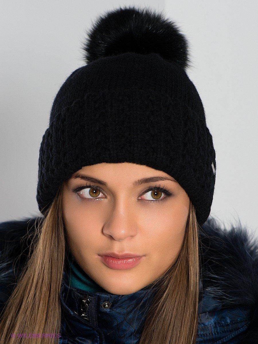 вязаная шапка черная фото