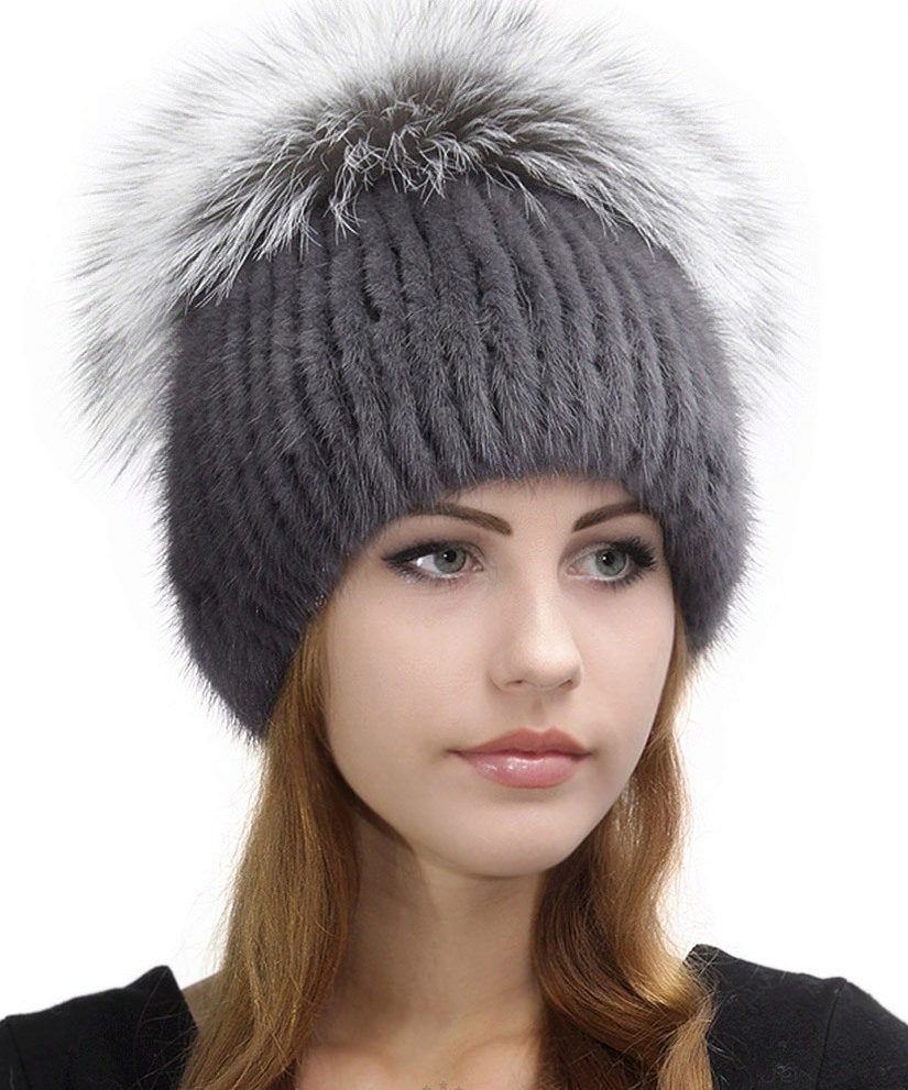 вязаная шапка норка фото