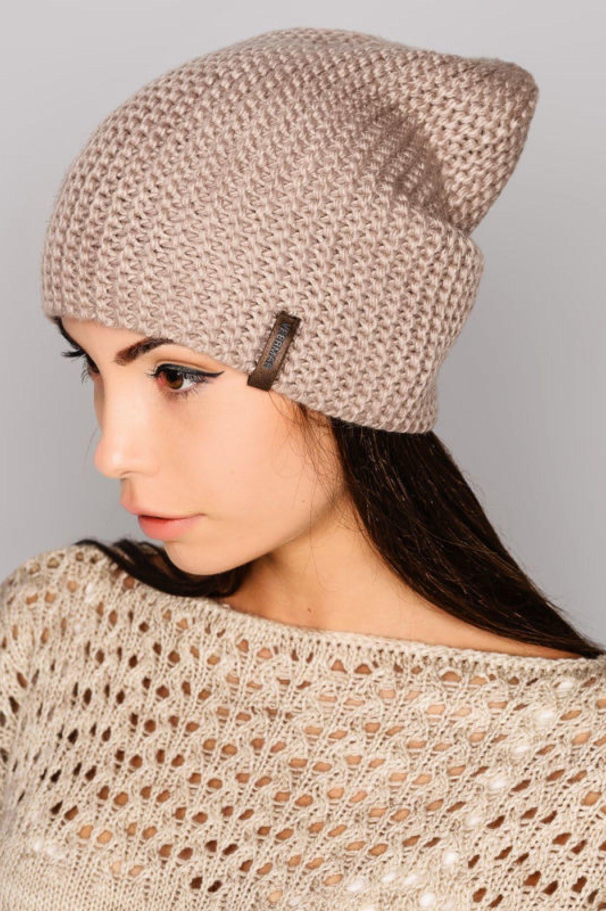 вязаная шапка платочная вязка фото