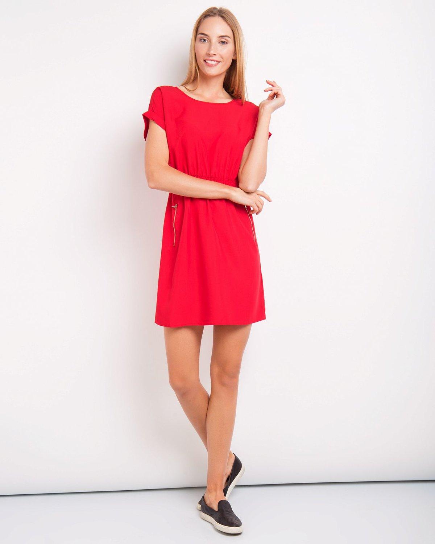 красное платье летнее фото