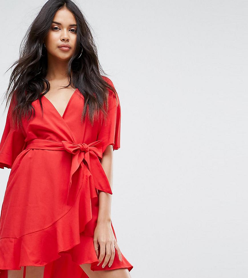 красное платье с запахом фото