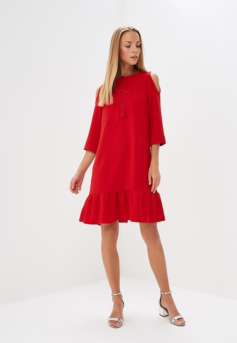 красное платье трапеция фото