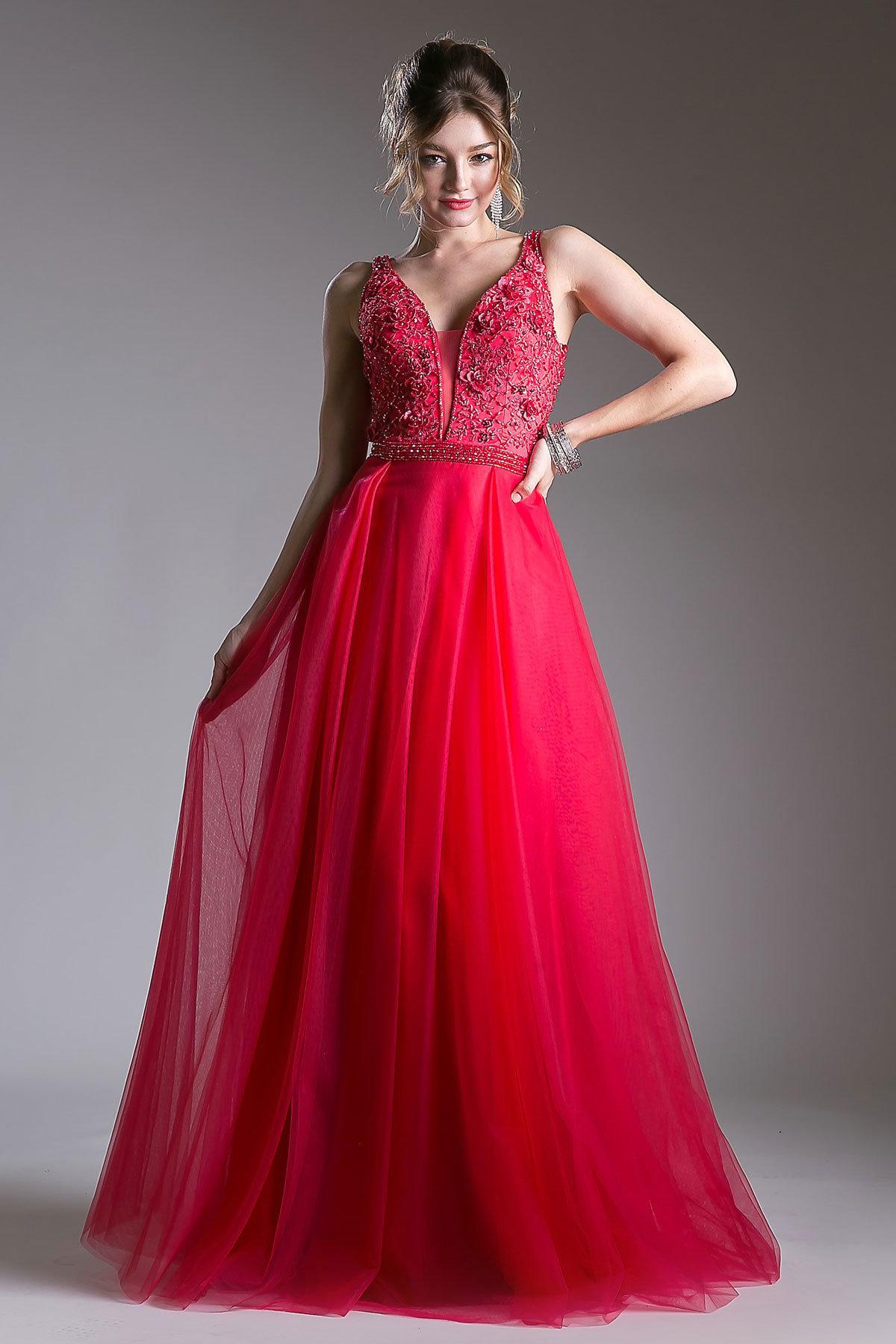 красное платье на выпускной фото