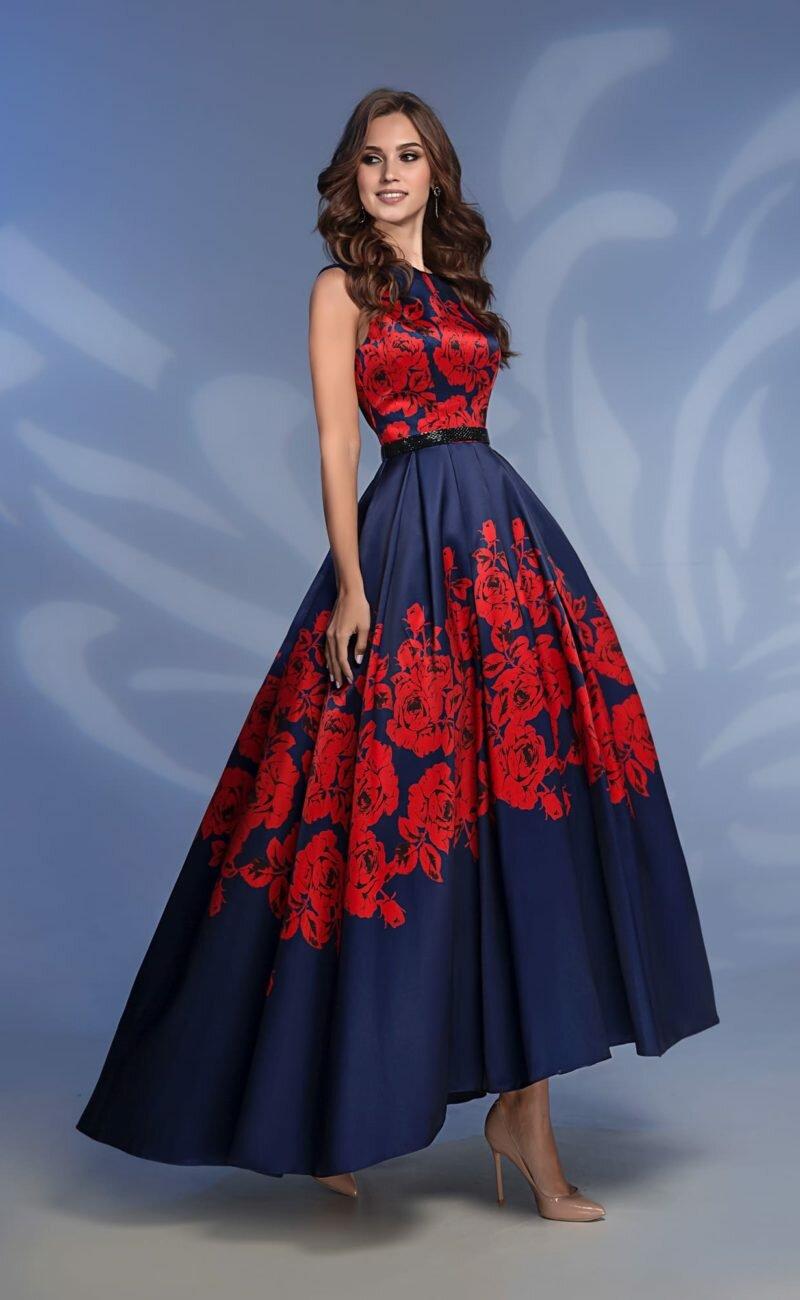 сине-красное платье фото