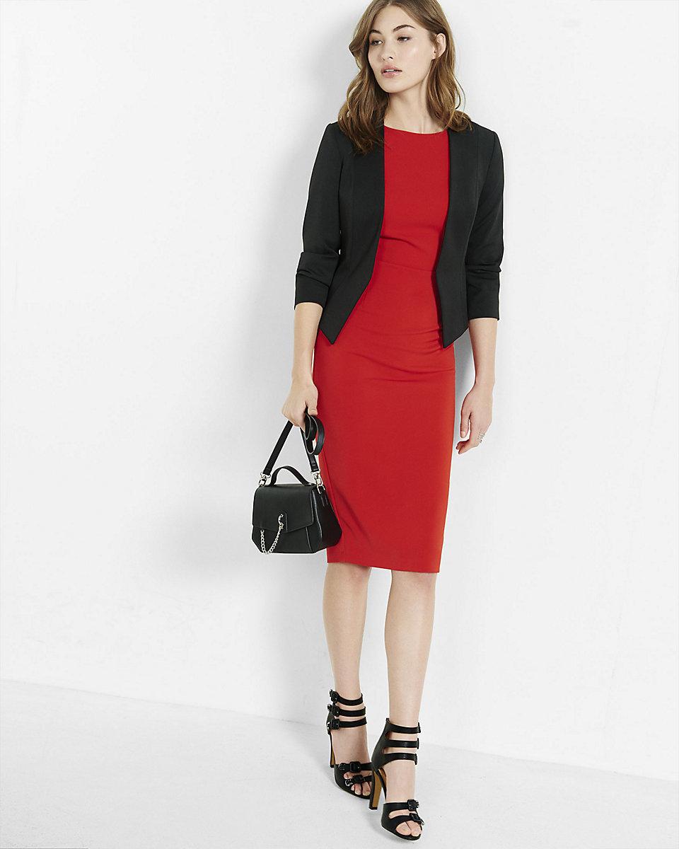 красное платье с пиджаком фото