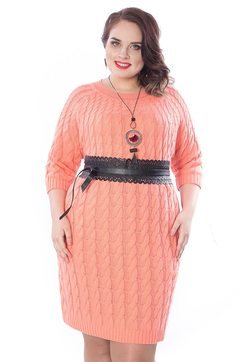 платье для полных вязаное фото