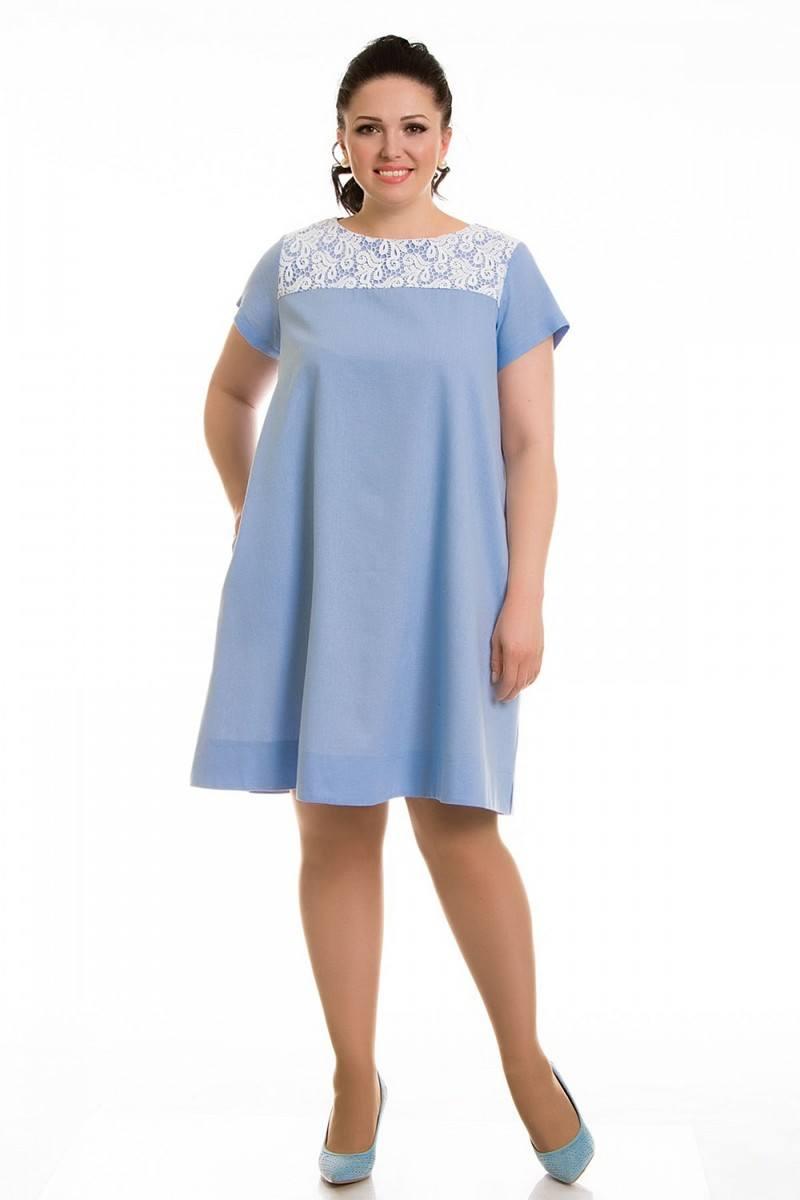 платье для полных трапеция фото