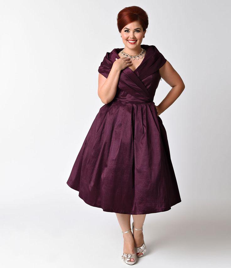 платье для полных в стиле стиляги фото
