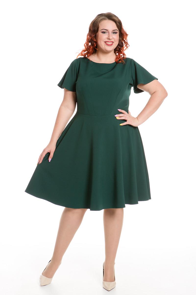 платье для полных расклешенное фото