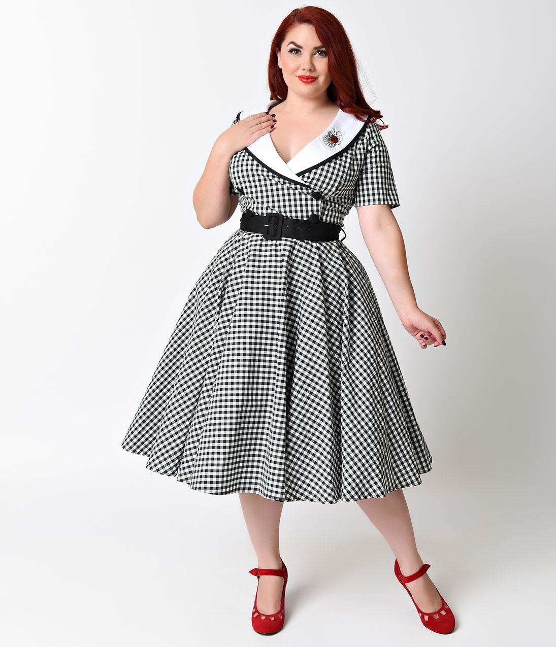 платье для полных ретро фото