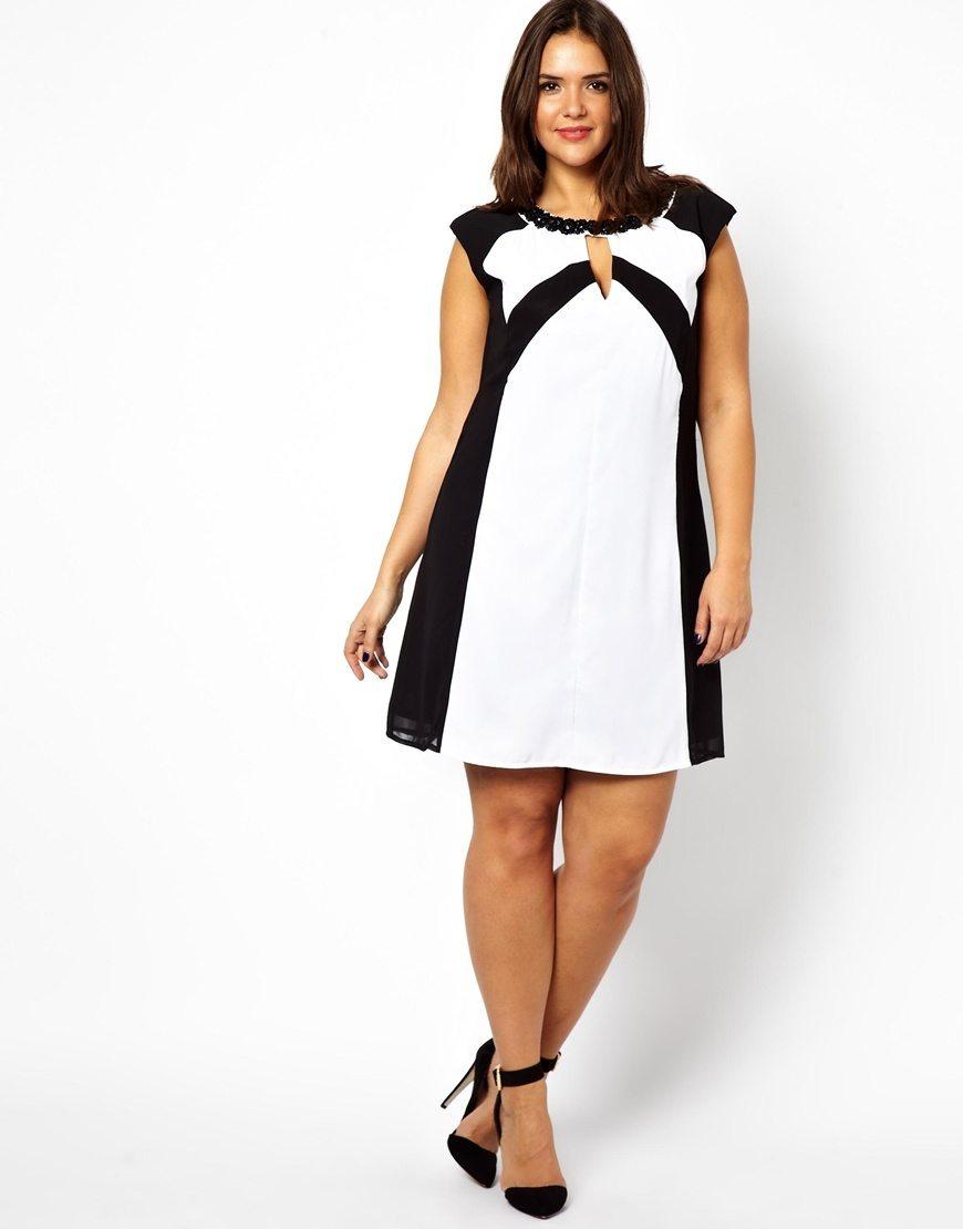 короткое платье для полных фото