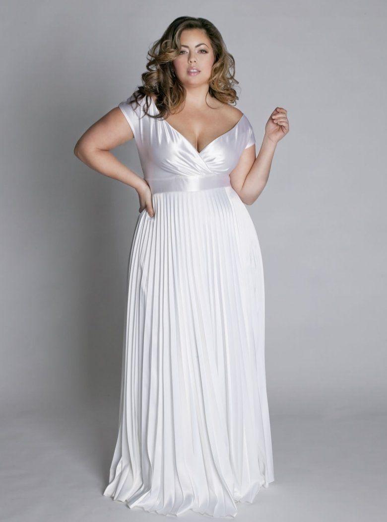 платье для полных свадебное фото