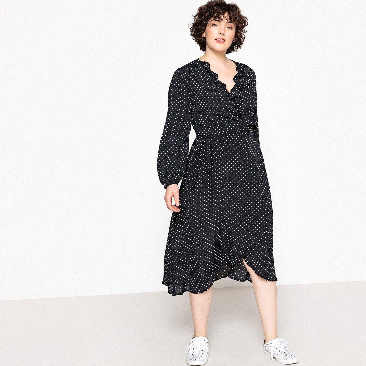 платье для полных с запахом фото
