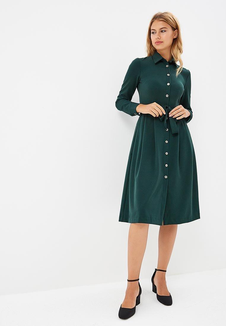 платье с длинным рукавом на пуговицах фото