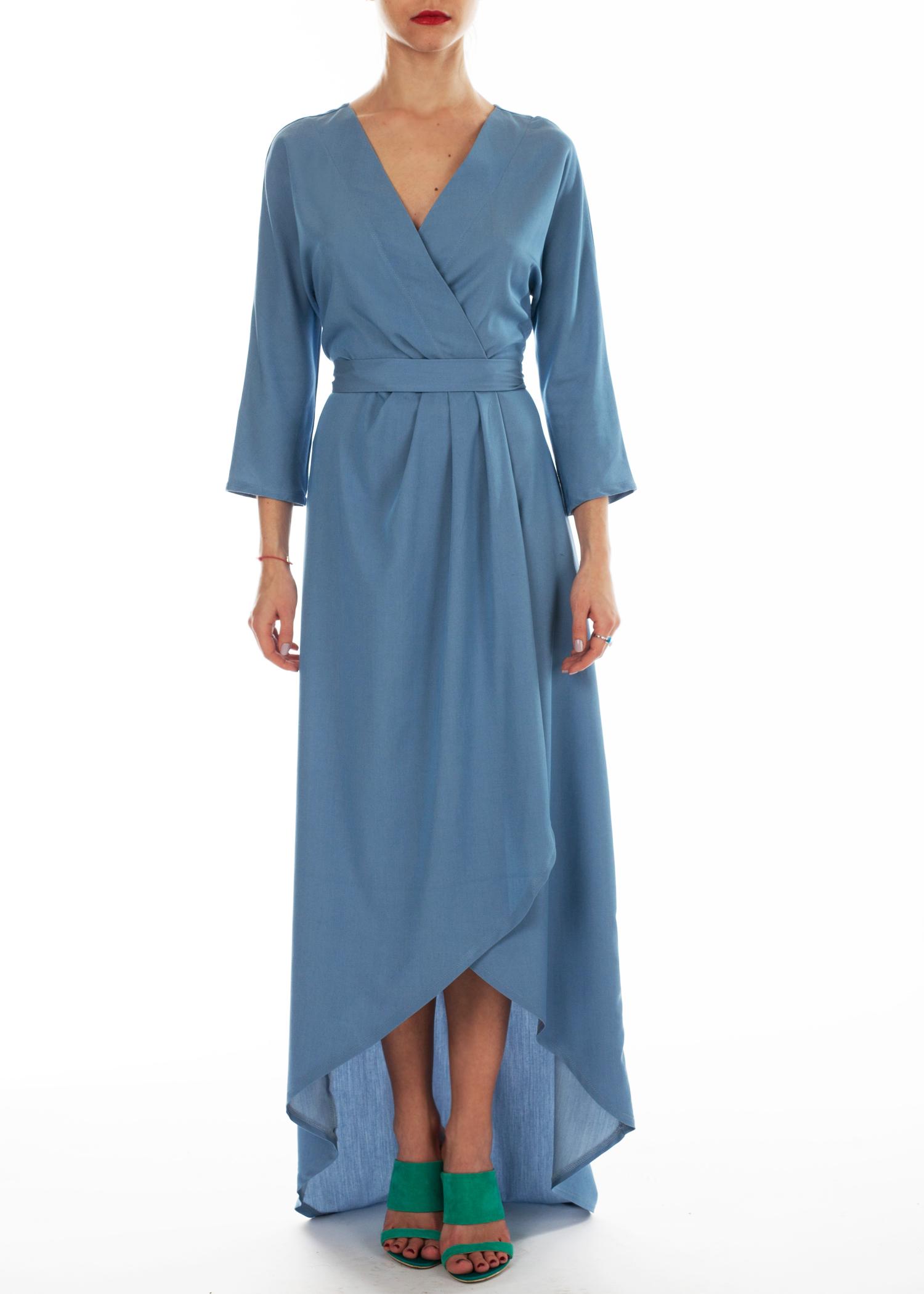 платье с длинным цельнокроеным рукавом фото