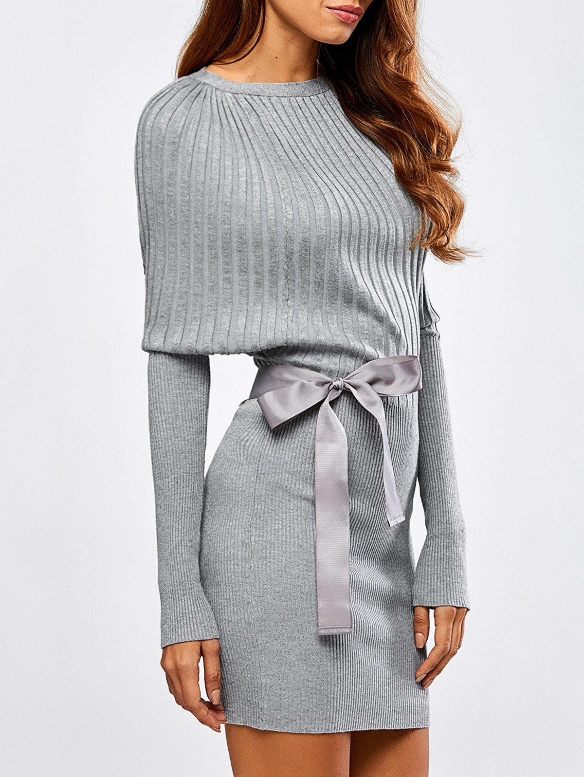 платье с длинным рукавом вязаное фото
