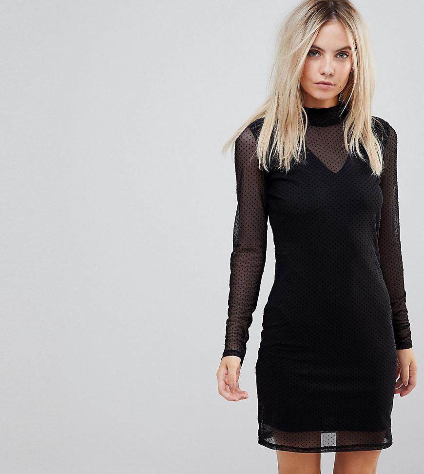 платье с длинным рукавом черное фото
