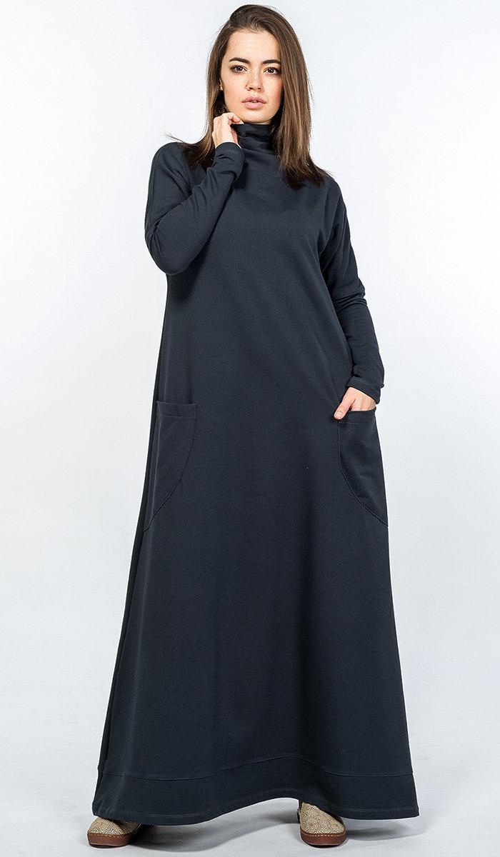 платье с длинным рукавом для полных в пол фото