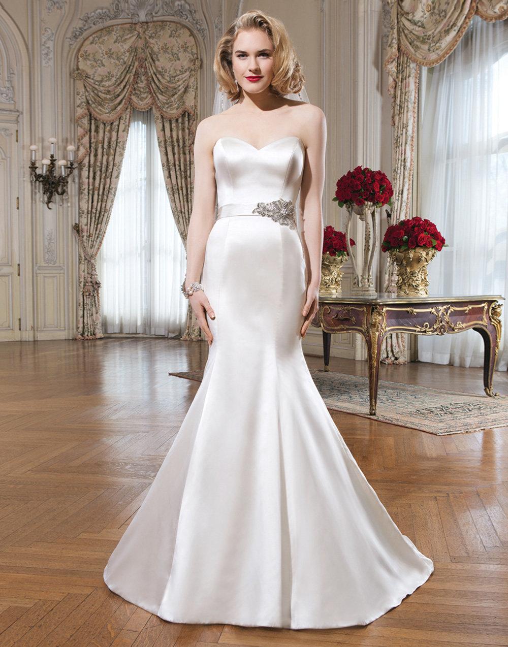 атласное платье свадебное годе