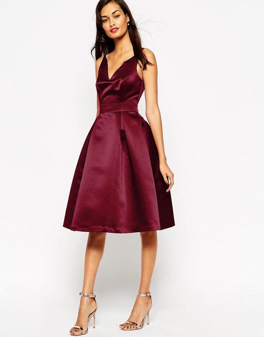 атласное платье цвет бордовый