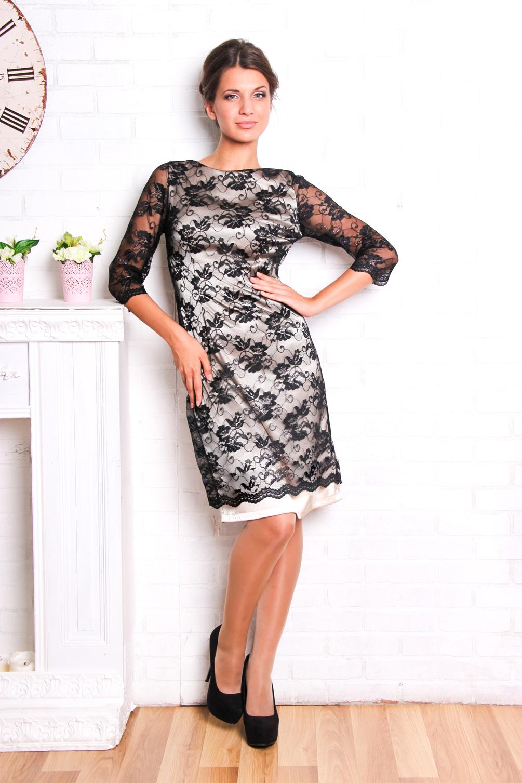 атласное платье с гипюром