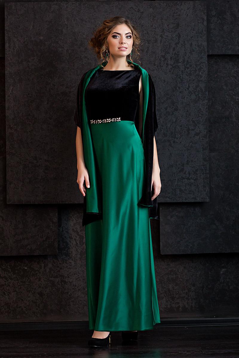 атласное платье и бархат