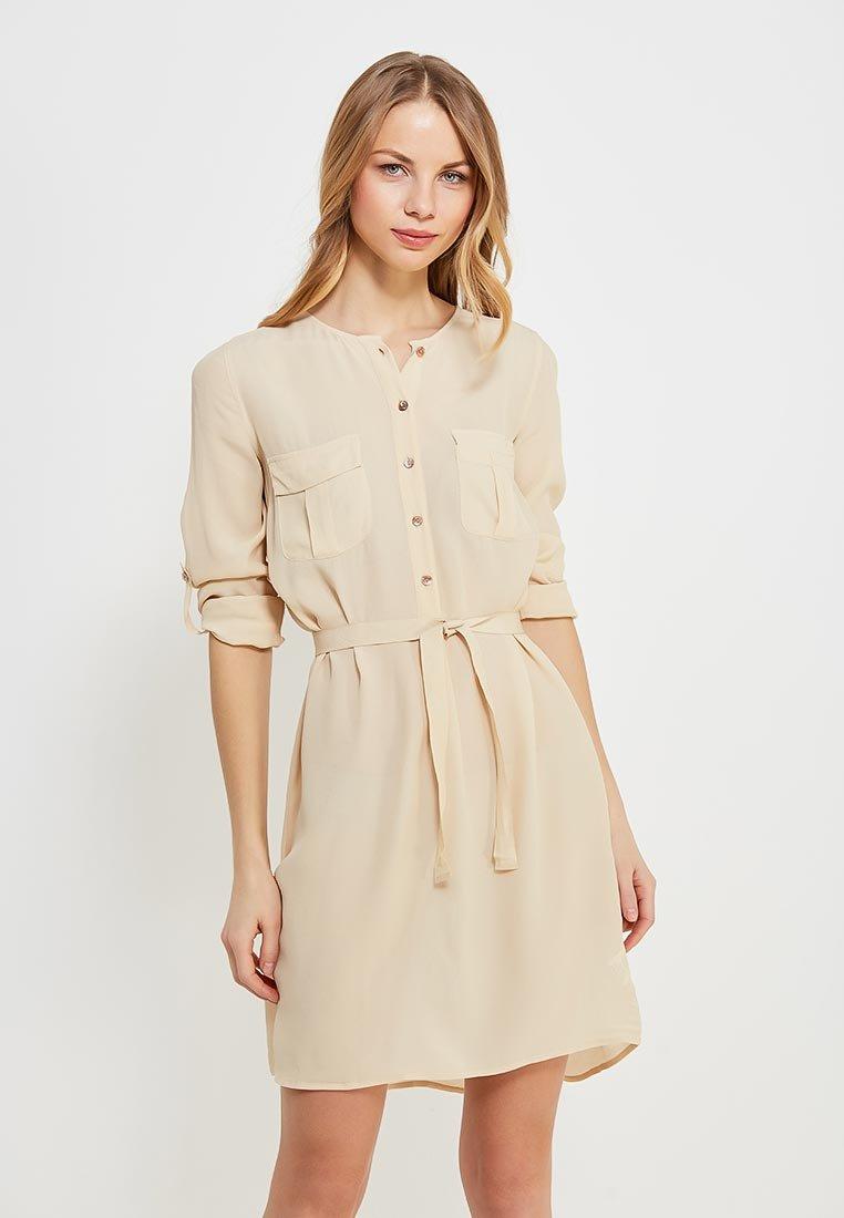 бежевое платье рубашка