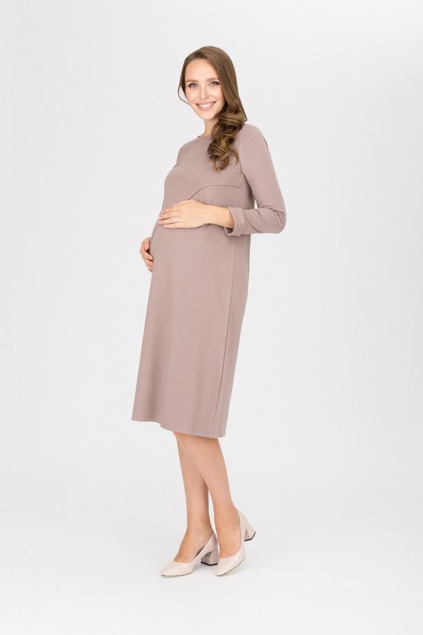 бежевое платье для беременных