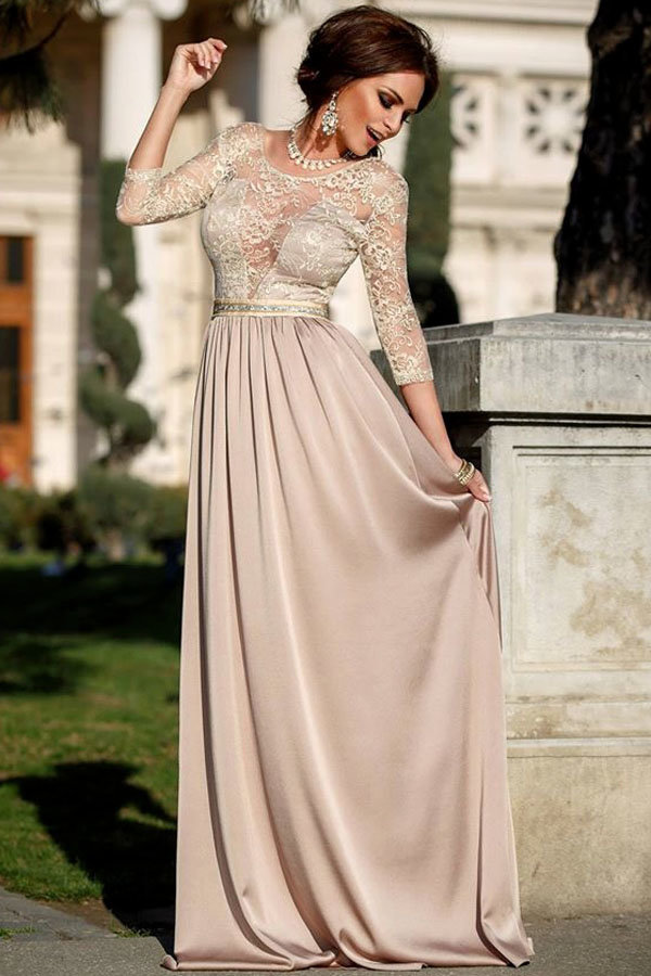 бежевое платье длинное